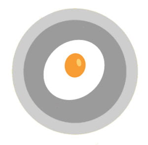 Fried egg in plate: water footprint