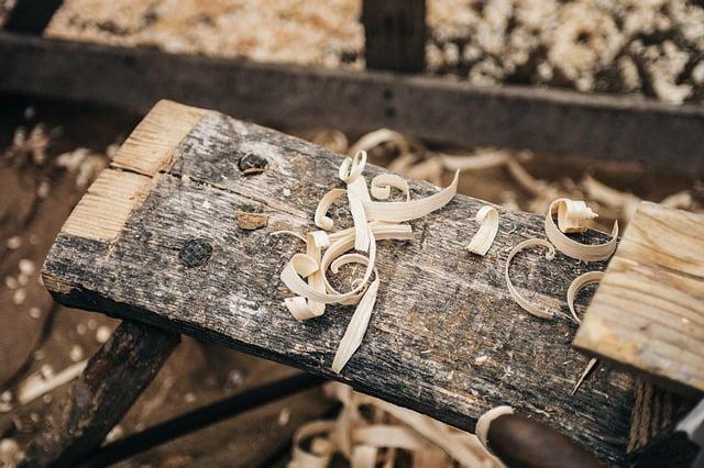 Wood shavings green woodworking