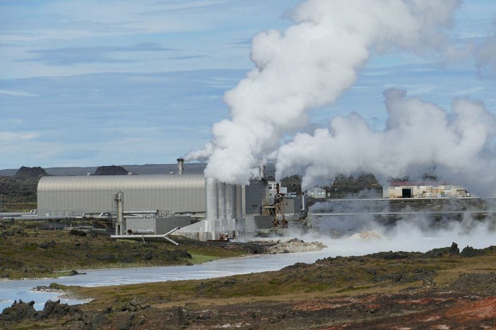 A Geothermal Power Plant in Iceland