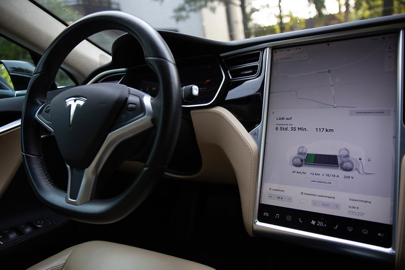 Tesla Model S Interior Screen