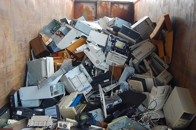 Disposed Desktop Computers and Other Electronics - 9 Shocking E-Waste Facts